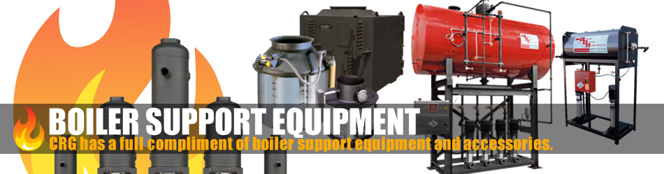 CRG Boiler Systems offers support equipment, deaerators, feed-water, feedwater, feedwater, blow-down blowdown blow down separators.