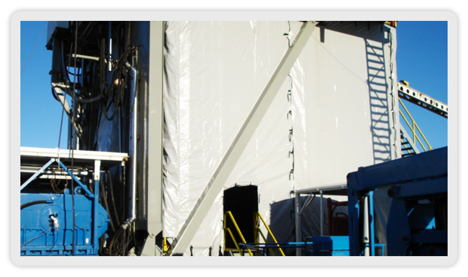 Canvas Steel Windwalls For Heat Retention And Wind And